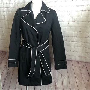 Tommy Hilfiger Belted Trench Coat with Piping